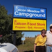 Pull into a great RV and tent camping campground near Pikes Peak and Colorado Springs: Falcon Meadow!