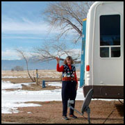 You'll get a little snow and a lotta sunshine at this RV and tent camping campground near Pikes Peak and Colorado Springs: Falcon Meadow!